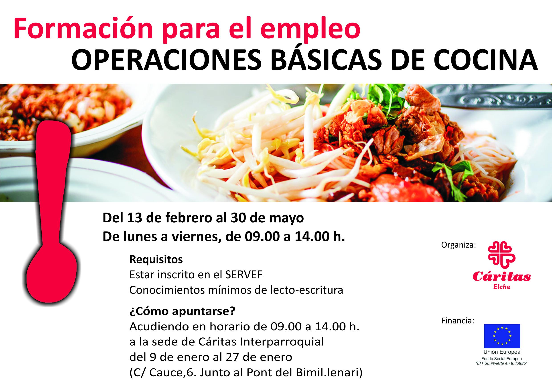 Nueva edici n del curso de operaciones b sicas de cocina for Curso cocina basica