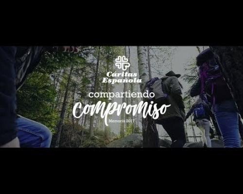 Embedded thumbnail for La Memoria 2017 de Cáritas, un viaje compartido de 84.000 voluntarios con 3 millones de personas vulnerables
